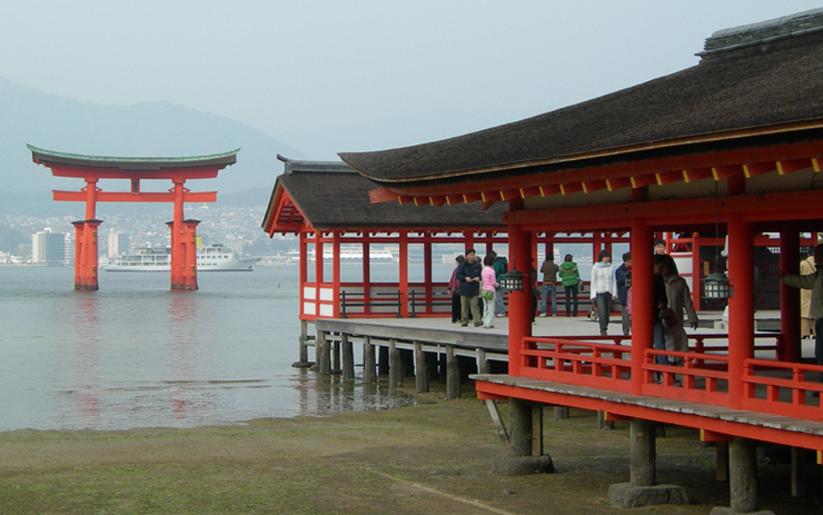 厳島神社 干潮