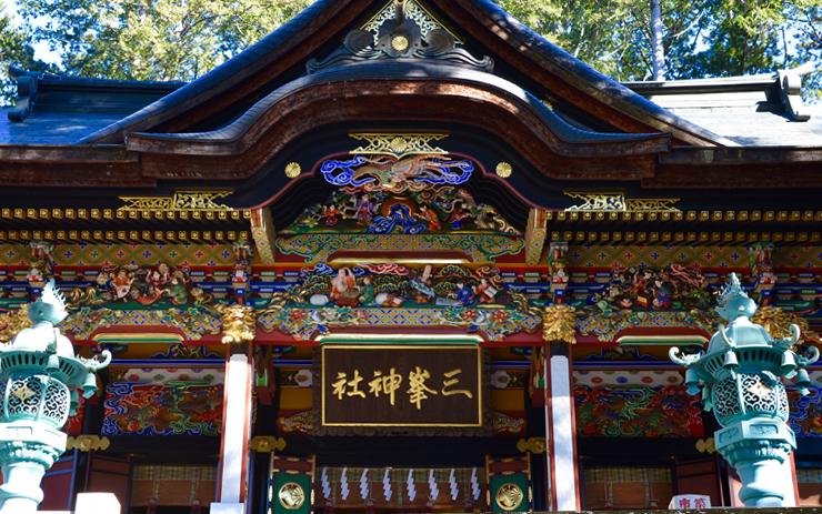 三峰神社 拝殿